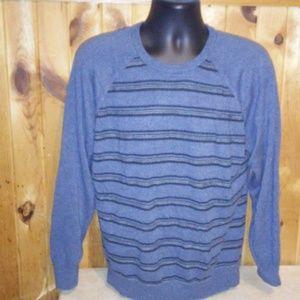 geoffrey beene men XL blue light sweater T5